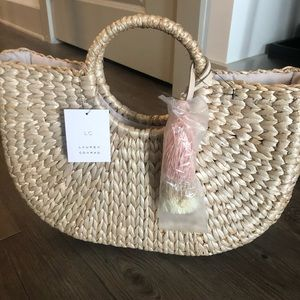 NWT! LC Lauren Conrad Straw purse